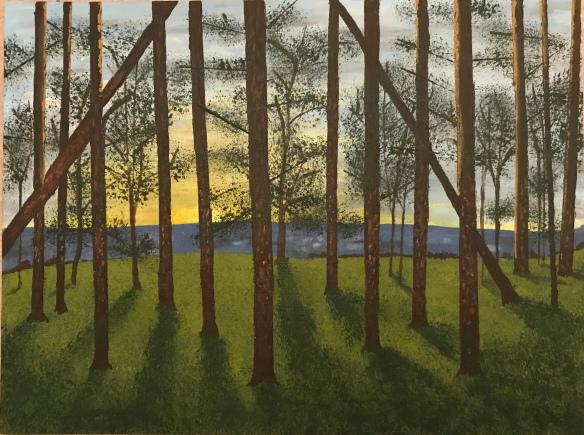 May Hill, Oxfordshire Artweeks, Gordon Charles, woodland