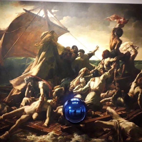 Koons, Géricault, raft, Medusa, Ashmolean, gazing ball