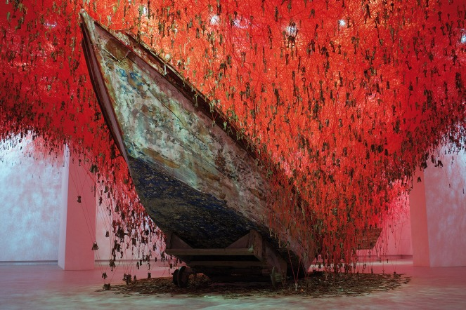 Venice Biennale, Venice, keys, Memories, red yarn