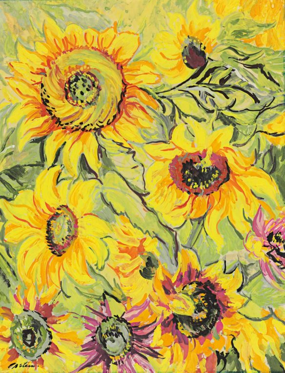 Epstein, sunflowers, Van Gogh, Tate