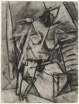 Pollock, Krasner, Barbican, life drawing
