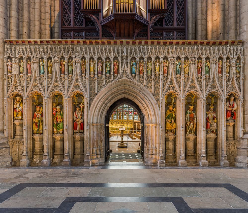 Ripon cathedral, Yorkshire, screen