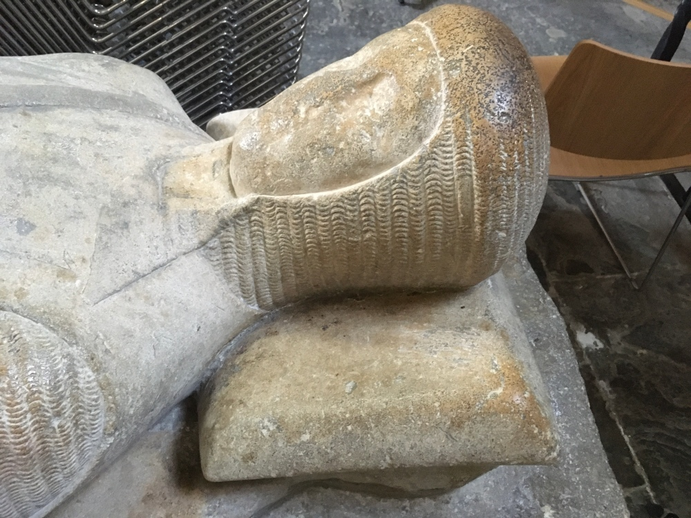 Pershore, abbey, Worcestershire crusader knight sone carving