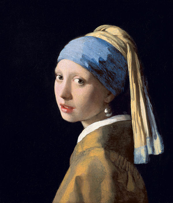 Johannes Vermeer, girl with a Peal Earing