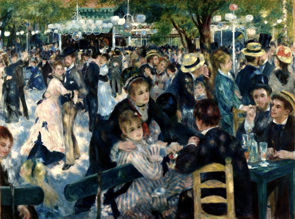 Renoir, moulin de la Galette, Paris, Impressionism, Musee D'Orsay, Covid 19