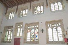 St Leonard's Church, Bledington, Gloucestershire, north wall stained glass