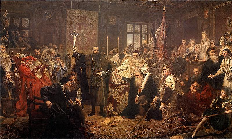 Jan Matejko, The Union of Lublin, Krakow, oil painting, national Gallery London