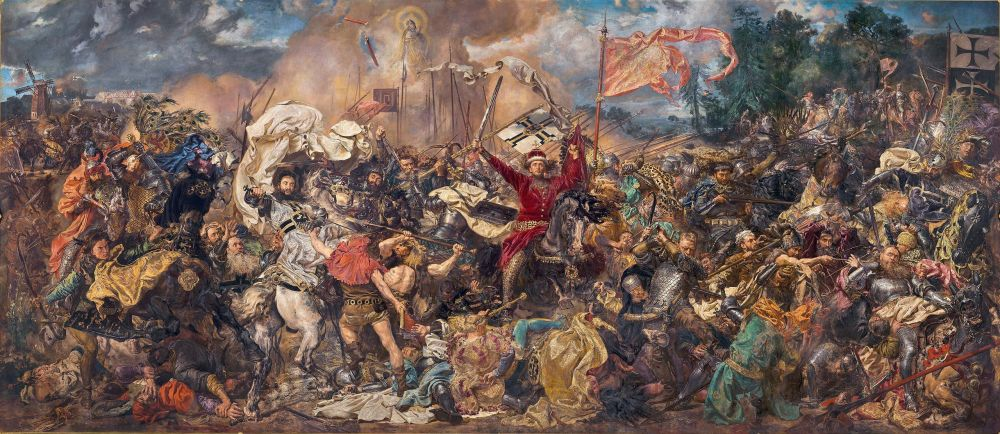 Jan Matejko, The Battle of Grunwald, oli painting, Warsaw, national Gallery London