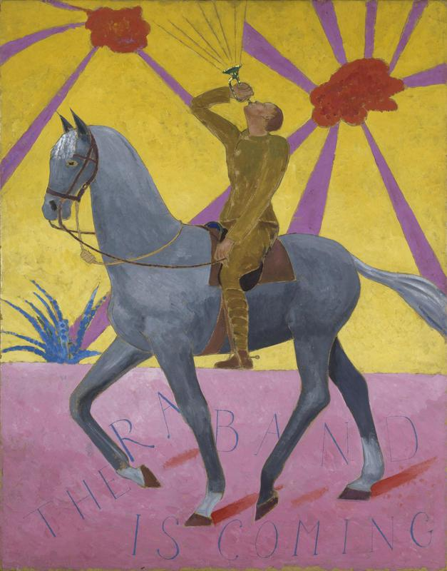 Darsie, Japp, the regimental Band, First World War oil painting, imperial war museum