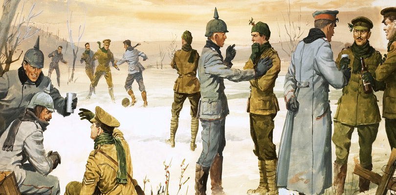 The Christmas Truce, First World War, trench warfare, 1914, Angus McBride