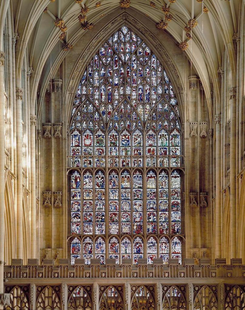 The Great East Window, York Minster, john Thornton, genesis, revelation