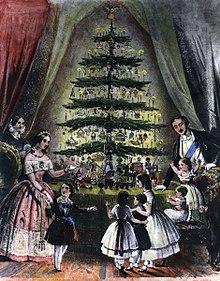 Victoria and Albert, Christmas, Christmas Tree, Great Britain, royal engraving