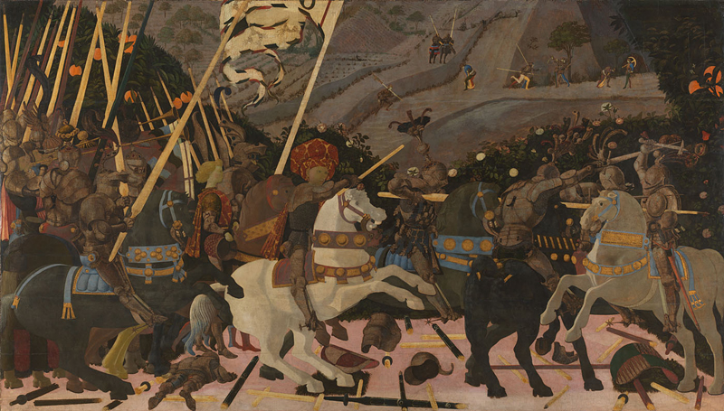 The Battle of Romano, 1450-1455, Paulo Uccello, The National Gallery, London.