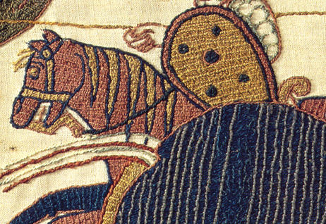 Bishop Odo, embroidery, tapestry, battle of Hastings, William the conqueror, Bayeux tapestry