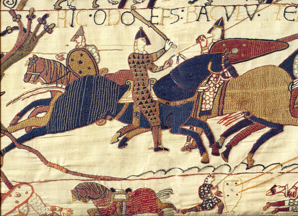 Bayeux Tapestry 1066, Normandy, romanesque, Bishop Odo, battle of Hastings