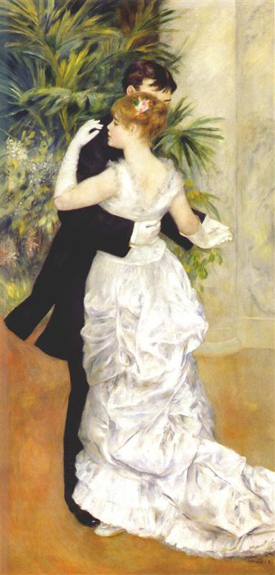 Renoir, Dance in the City, oil on canvas, Musée D'Orsay, 1883