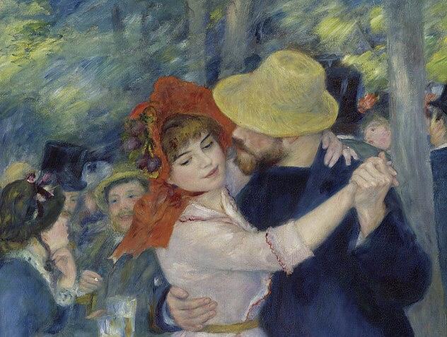 Renoir, dance at bougival, Boston museum of fine arts