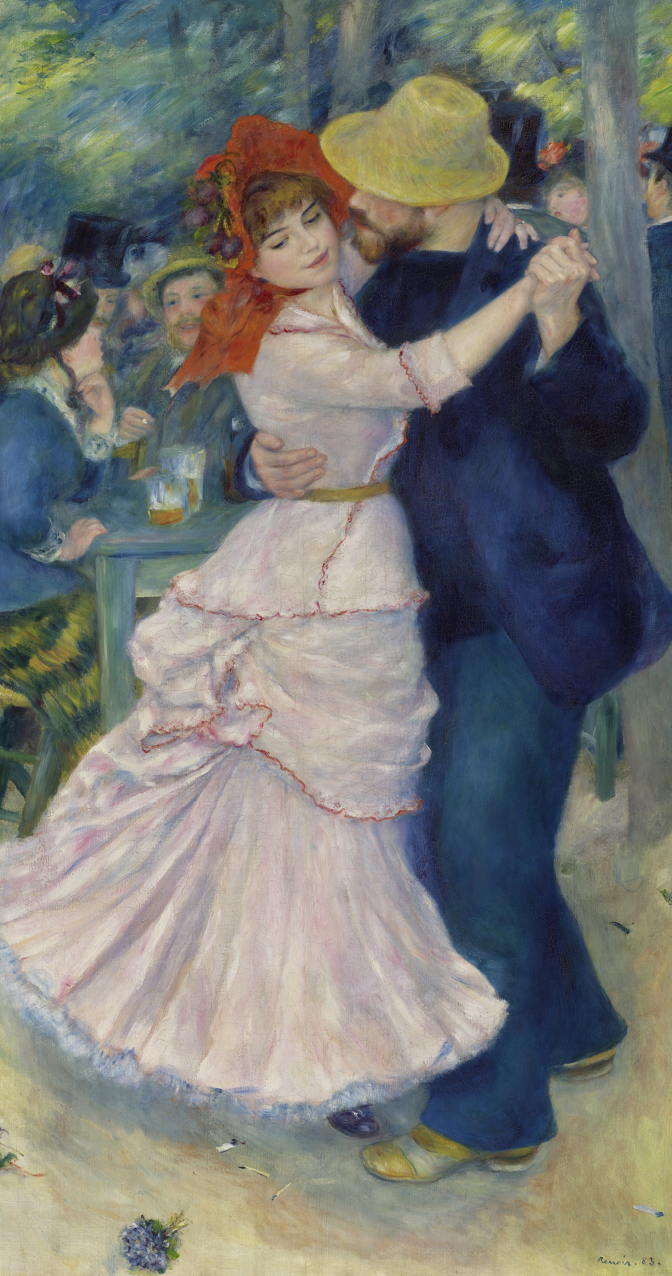 Renoir, Dance at Bougival, oil painting, Boston museum of fine art Suzanne Valadon, Paul kohlt