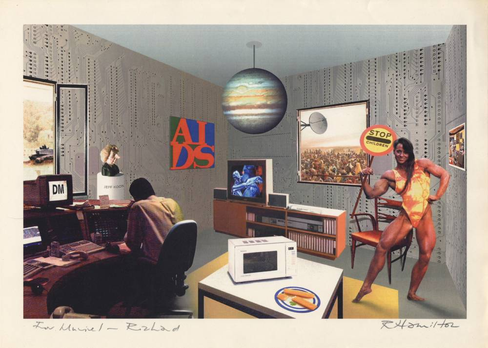 Richard Hamilton, Just what is it that makes today's homes so different, 1992, digital screenprint after 1956 original art work