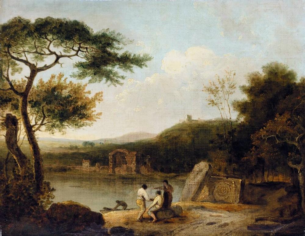 Richard Wilson, Lake Avernus, 1757, Oil on canvas, 42cm x 74cm, National Museum of Victoria, Melbourne.
