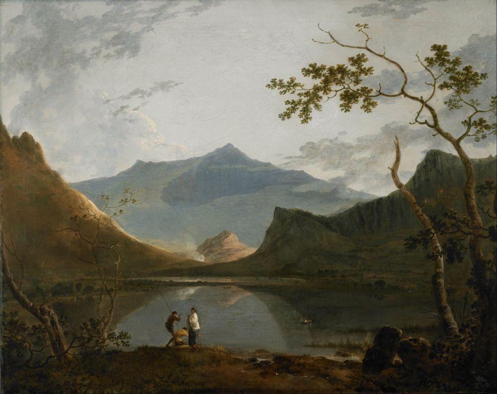 Richard Wilson, Snowdon from Llyn Nantile, 1766, oil on canvas, 101cm x 127cm, Walker Art Gallery, Liverpool.