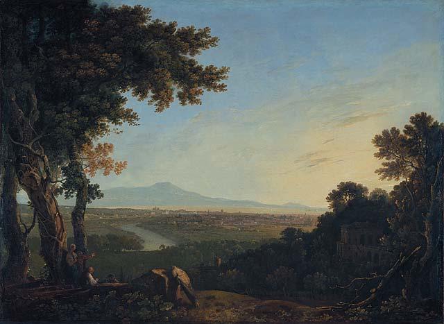 Richard Wilson, Rome from the Villa Madama, 1753, oil on canvas, 95cm x 138cm, Yale University.