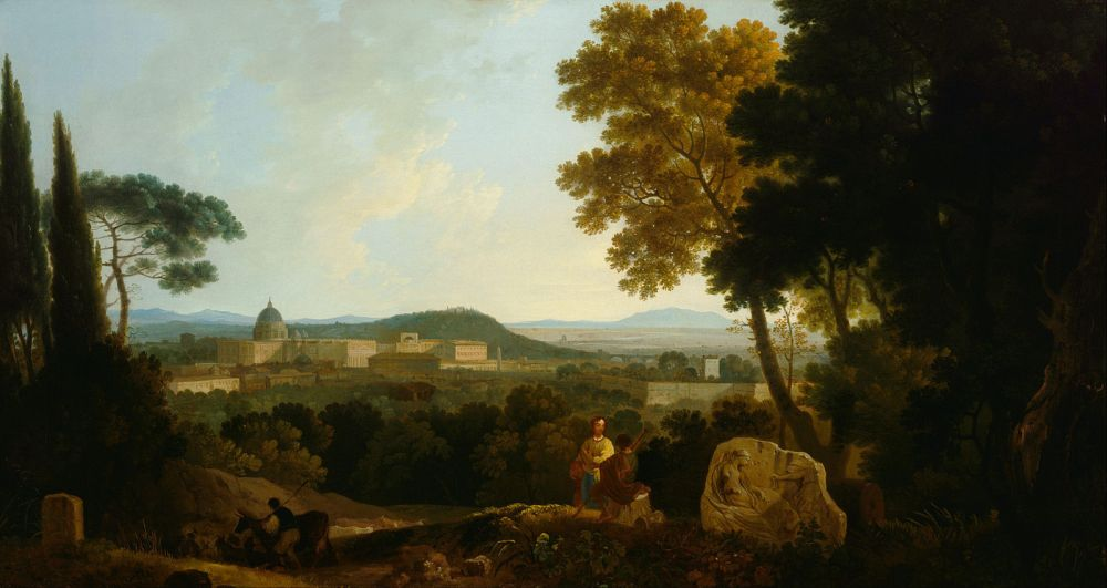 Richard Wilson, St Peter's and the Vatican from the Janiculum, 1753, oil on canvas, 100cm x 138cm, Tate Gallery, London.