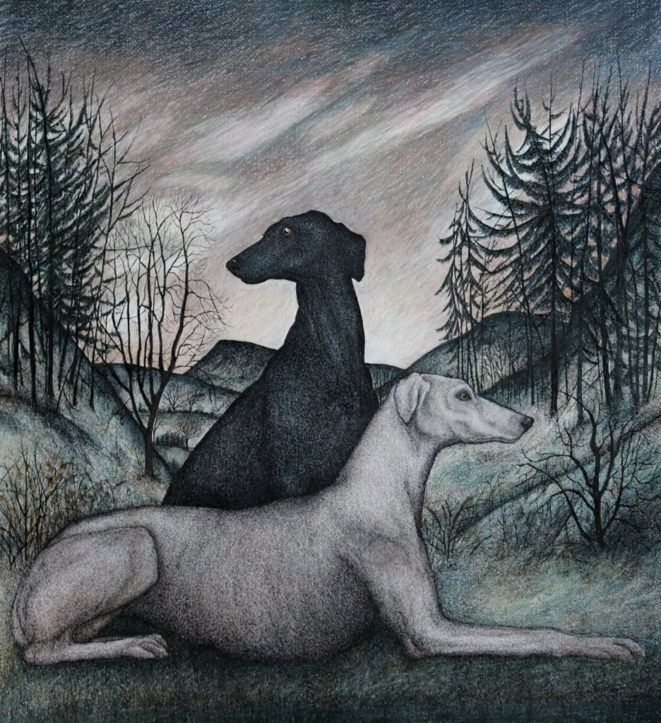 Seren Bell, Patience, 2021, mixed media, 66cm x 60cm, Fosse Gallery, Stow on the Wold