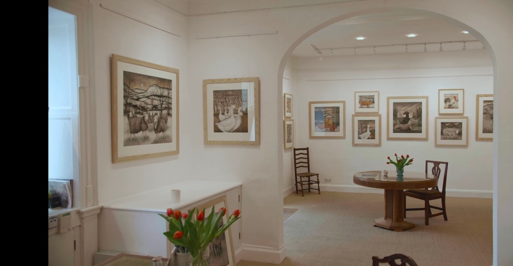 Fosse Gallery Stow on the Wold, Seren Bell, New Works for Spring to May 8th 2021. Sharon Wheaton, Mid Wales, Radnor, Tiverton