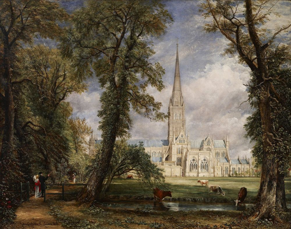 John Constable, Salisbury Cathedral from the Bishops Garden, 1823, oil on canvas, 87cm x 112cm, Victoria & Albert Museum, London.