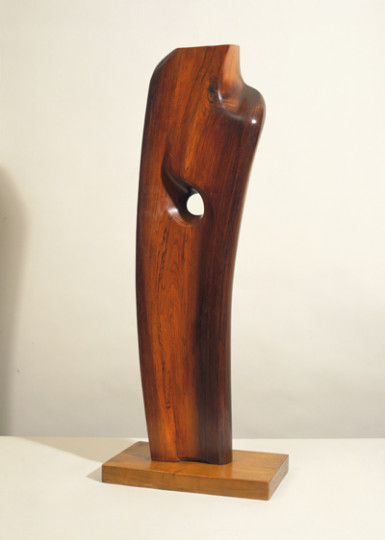 Barbara Hepworth, Rhythmic Form, 1950, Rosewood! 40cm x 22cm x 104cm, Collection of the British Council, image © Sophie Bowness.