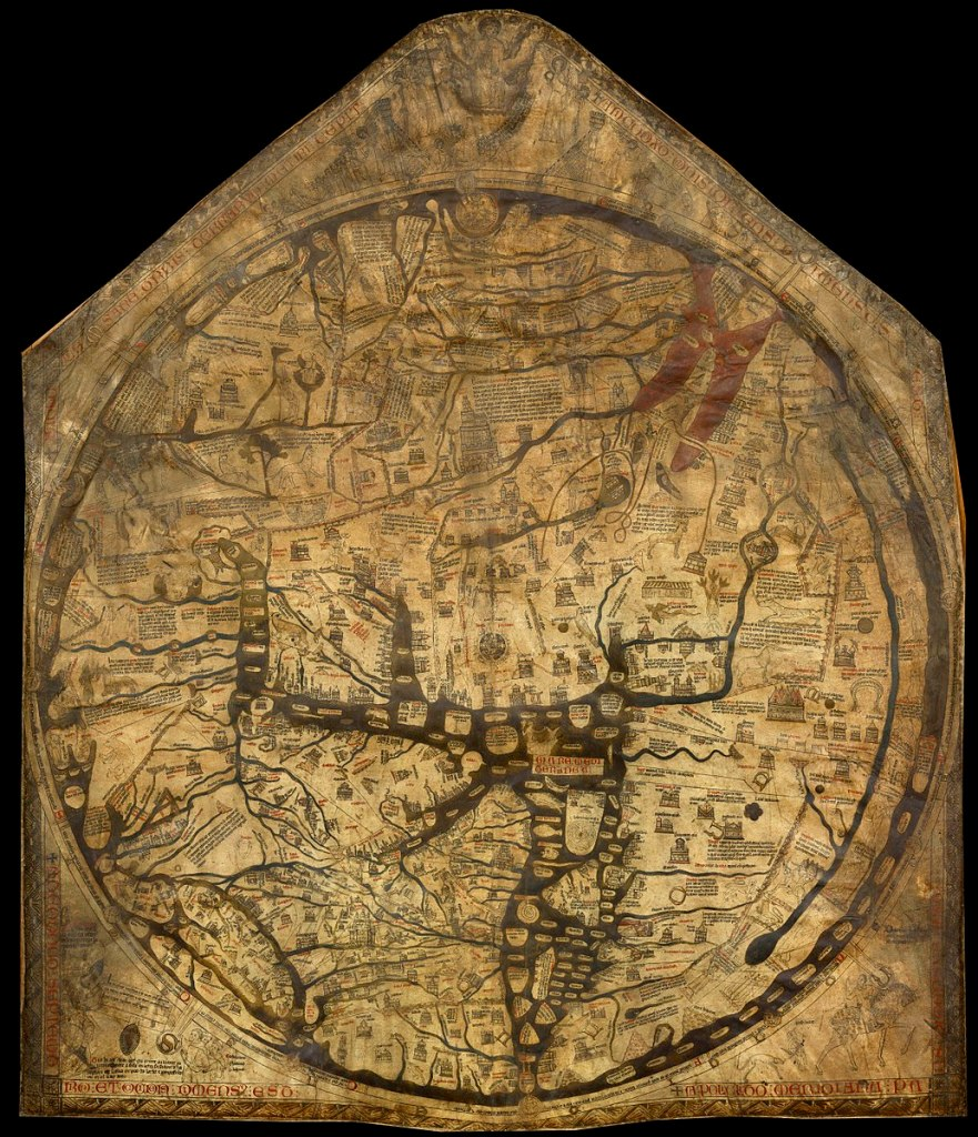 Kappa Mundi at Hereford Cathedral, c1300, Vellum and ink, 153cm x 133cm.