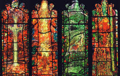Tom Denny, Thomas Traherne Windows, Stained Glass, 2007, Audley Chapel, Hereford Cathedral. Gloucester Cathedral, Leicester Cathedral.