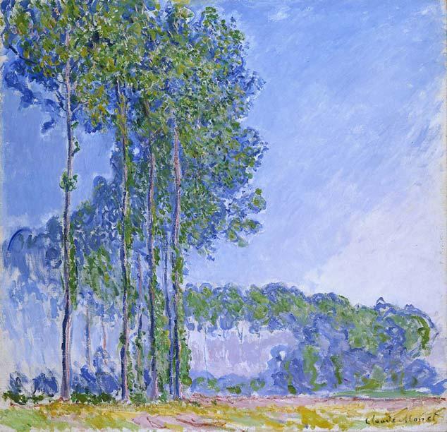 Claude Monet, The Poplars, 1891. Oil on canvas, 89cm x 92cm, The Fitzwilliam Museum,