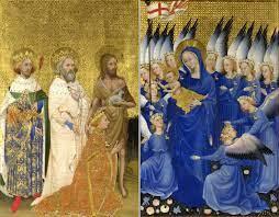 The Wilton Diptych; c. 1395–1399; each panel is 53 x 37 cm,