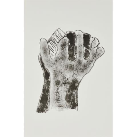 Alvaro Barrington, Grandma's Hands, 2021, gyclee print, Hepworth Wakefield School Prints.