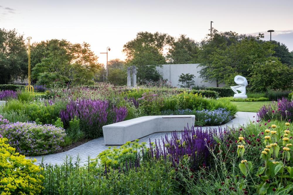 The Hepworth Wakefield Garden, 2021, designer Tom Stuart-Smith.