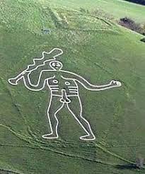 Cerne Abbas Giant, chalk excavation sculpture, Dorset U.K.